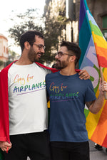 Load image into Gallery viewer, Gay for Airplanes T-Shirt (Pride 2020)