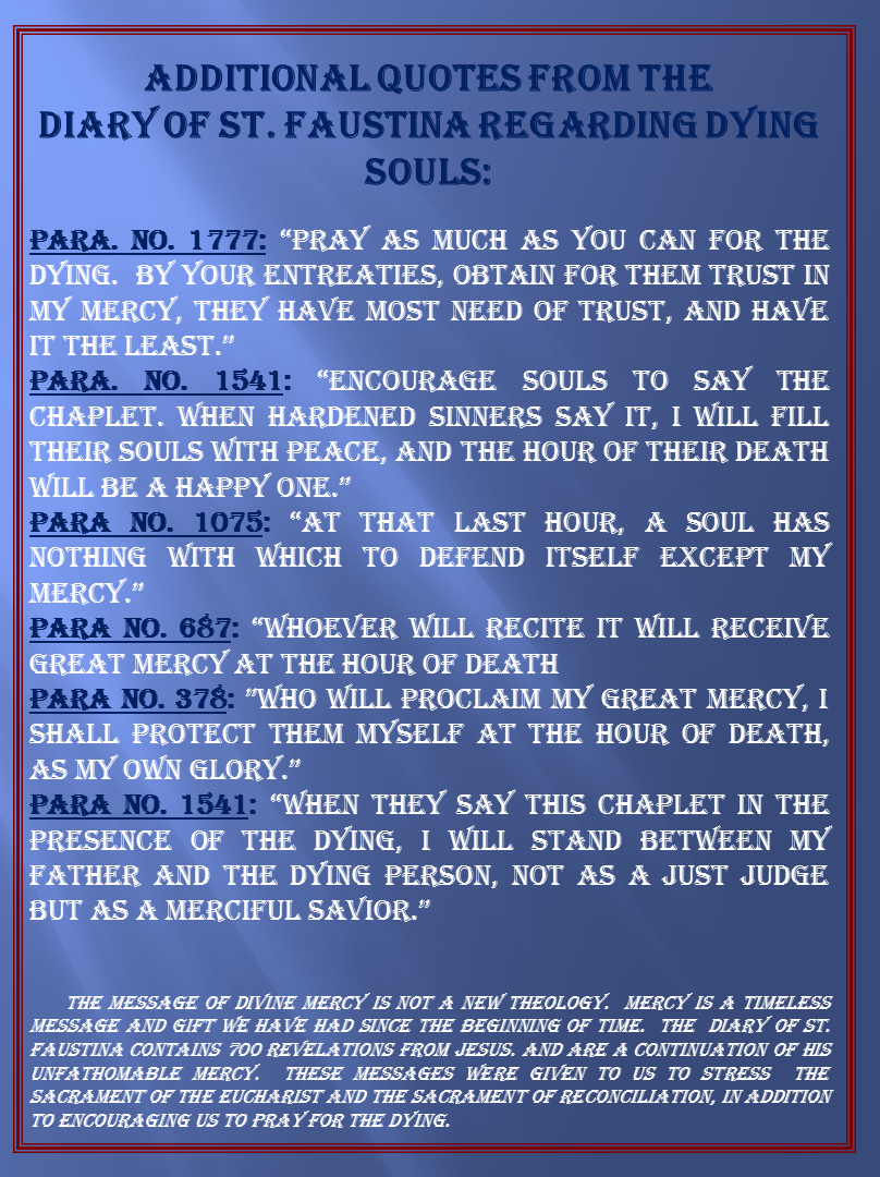 Prayer for the Sick and Dying – Laity for Mercy