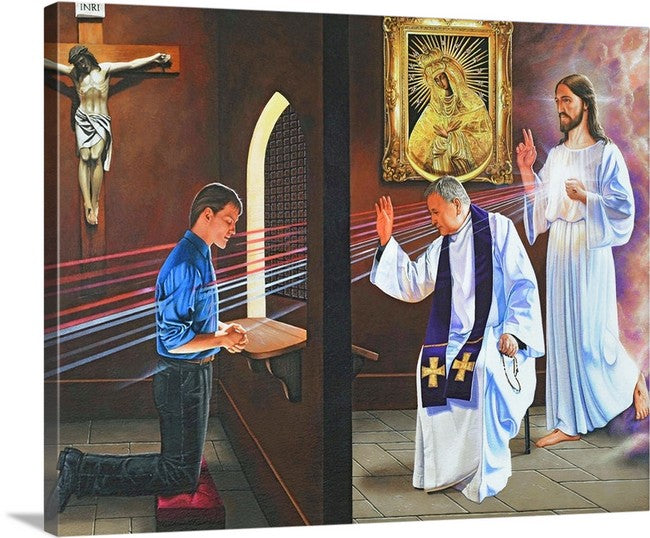 16x20 Canvas print/ Tribunal of Mercy/ $59.00 Free Shipping