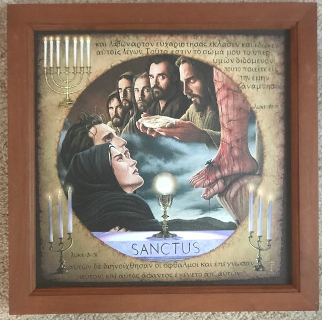 14x14 The Perfect Sacrifice (Canvas, framed in Cherry wood) FREE SHIPPING