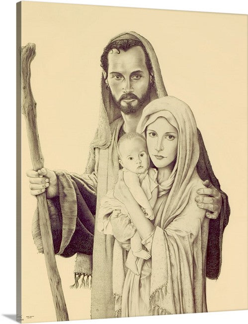 Holy Family Consecration  '16x20' Stretched Canvas print ( $59.00 includes shipping)
