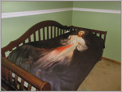 Divine Mercy  blanket for the sick and dying (50x60 Fleece Blanket) FREE SHIPPING