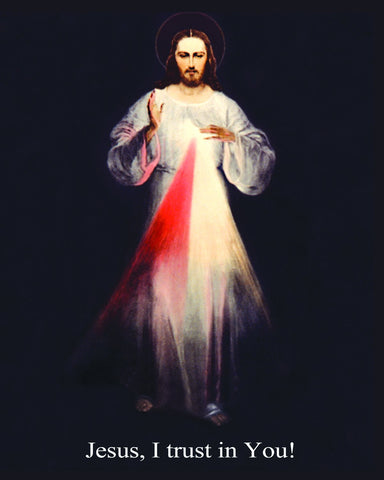 8x10 Divine Mercy Jesus print (Vilnius) Box of 100 prints  /Fee Shipping