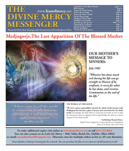 Divine Mercy Messenger/ The Last Apparition  - 5 for $10.00 Free Shipping (16 page full color newspaper)