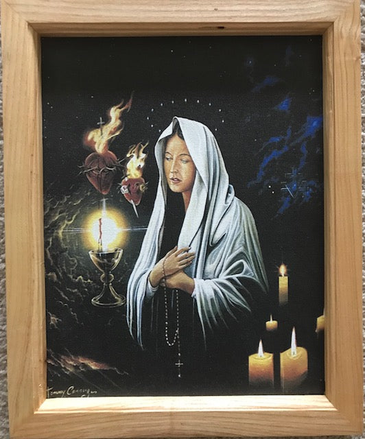 11x14/11x19 Mother of Sorrows (Canvas prints framed in maple wood) FREE SHIPPING