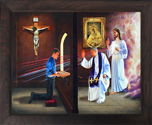 14x14/20x20 The Tribunal Of Mercy (Canvas, framed in solid wood) FREE SHIPPING