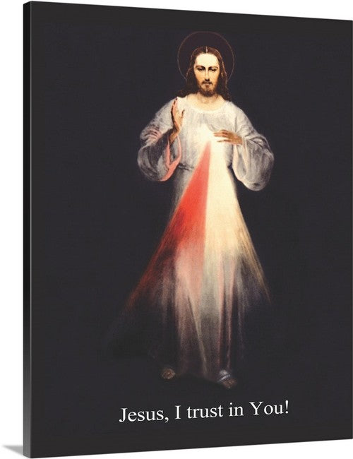 16x20 Canvas wrapped  Vilnius Divine Mercy Image (No Glass) FREE SHIPPING $59.00