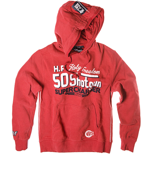 HOLY FREEDOM SHOTGUN RED HOODIE
