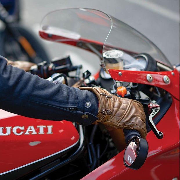 GOLDTOP QUILTED CAFE RACER GLOVES