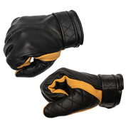 GOLDTOP SHORT BOBBER GLOVES UNLINED - BLACK/GOLDEN DEERSKIN