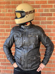 HOLY FREEDOM QUATTRO BLACK LEATHER MOTORCYCLE JACKET