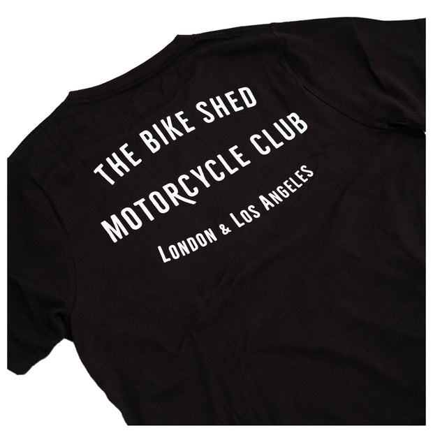 THE BIKE SHED CLUB T-SHIRT BLACK