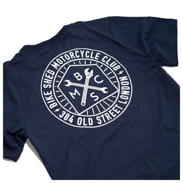 THE BIKE SHED ROUNDEL T-SHIRT NAVY