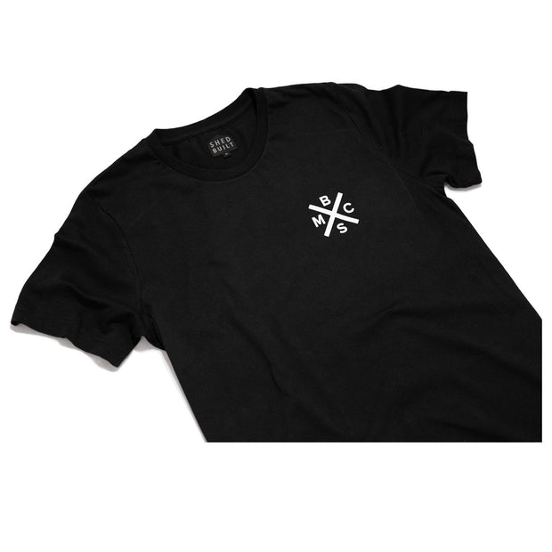 THE BIKE SHED DROP BARS T-SHIRT BLACK