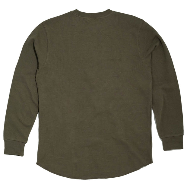 THE BIKE SHED ROUNDEL LONG SLEEVE WAFFLE KHAKI