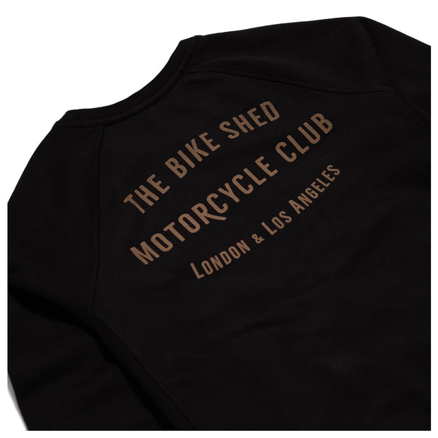 THE BIKE SHED CLUB SWEATSHIRT BLACK