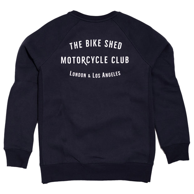 THE BIKE SHED CLUB SWEATSHIRT NAVY