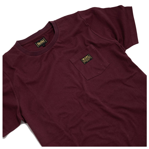 THE BIKE SHED UTILITY T-SHIRT BURGUNDY