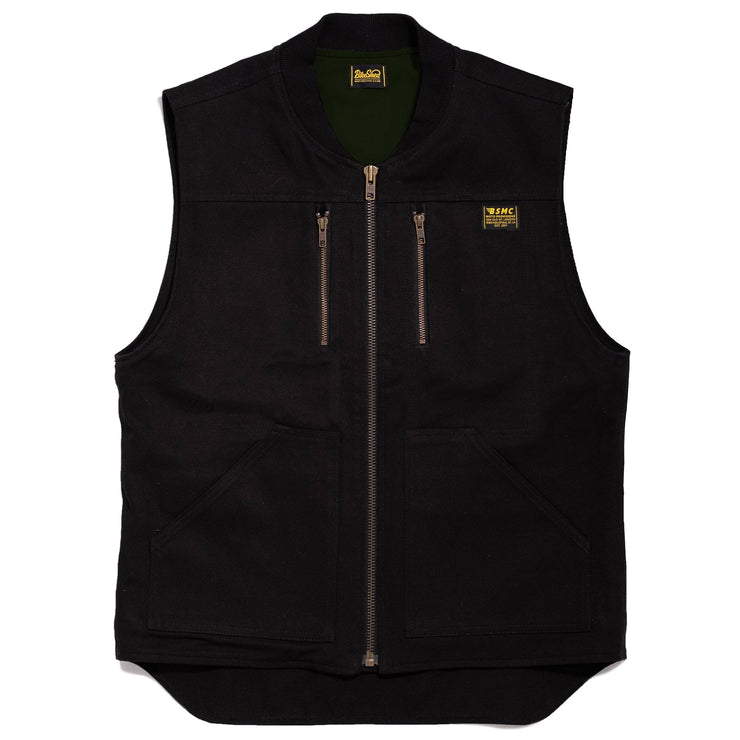 THE BIKE SHED UTILITY VEST BLACK