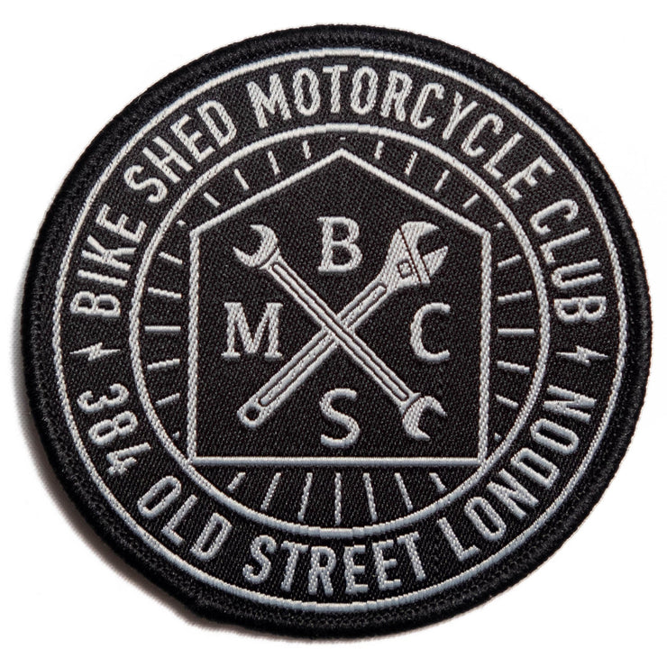 THE BIKE SHED ROUNDEL PATCH BLACK