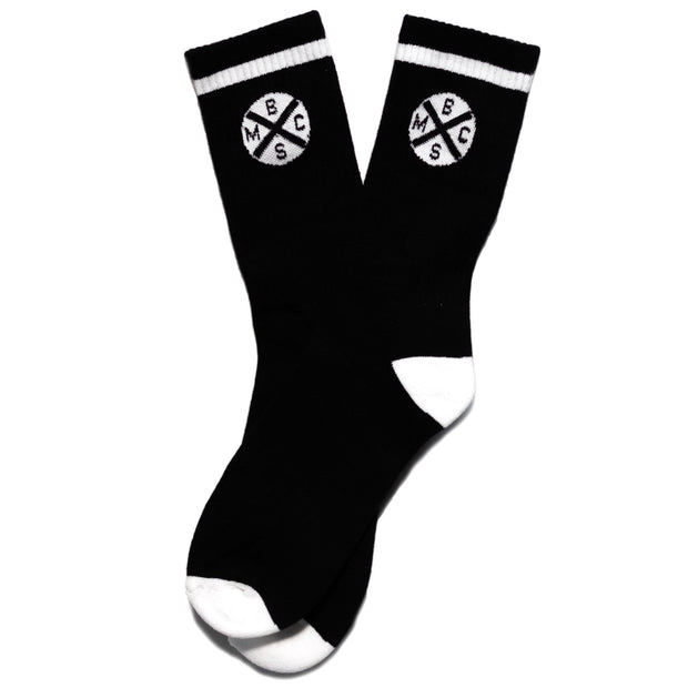 THE BIKE SHED HEADLIGHT SOCKS BLACK/WHITE