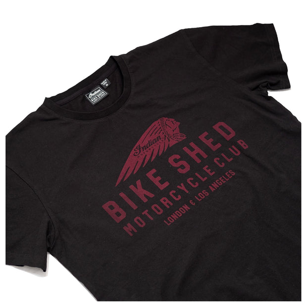 BSMC X INDIAN MOTORCYCLE T-SHIRT - BLACK