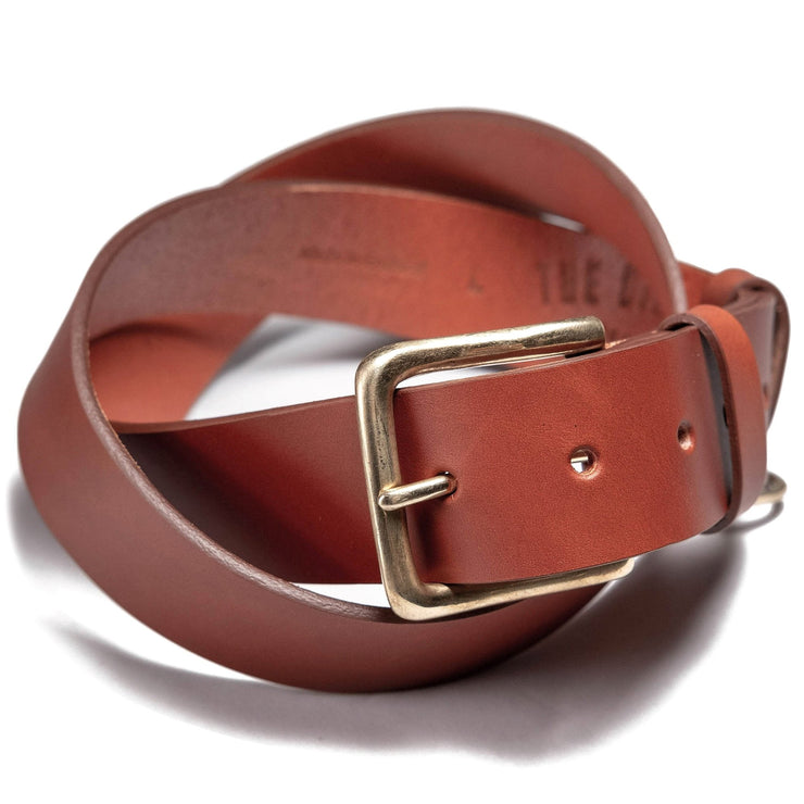 THE BIKE SHED TRIUMPH LEATHER BELT TAN