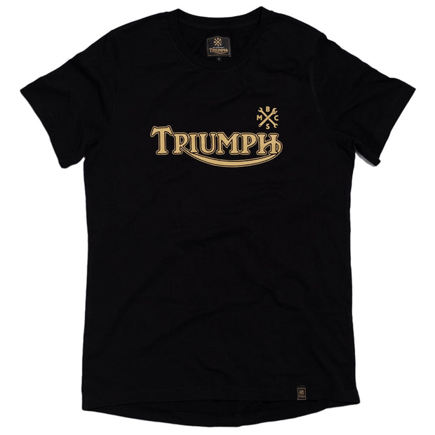 THE BIKE SHED TRIUMPH CHEST T-SHIRT BLACK