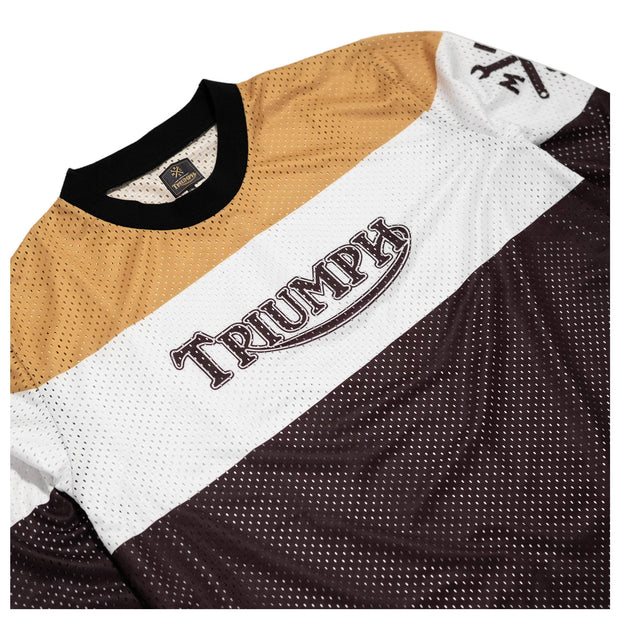 THE BIKE SHED TRIUMPH RACE JERSEY GOLD