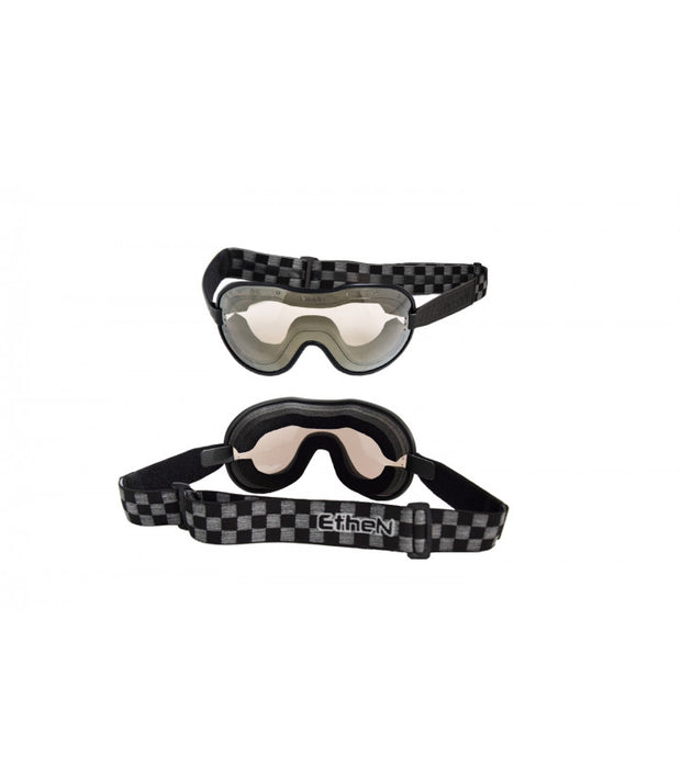 ETHEN CAFE RACER GOGGLE MIRROR BRONZE LENS - CHESS BLACK/GREY