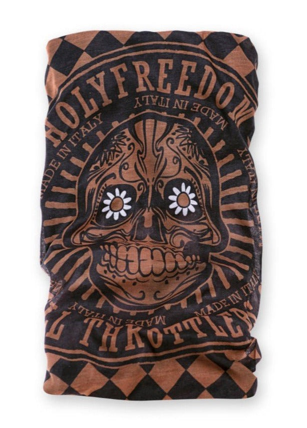 HOLY FREEDOM DRY-KEEPER TUBE SCARF - GOLDEN SKULL