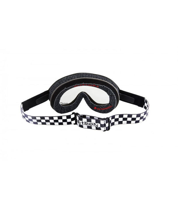 ETHEN SCRAMBLER GOGGLE WHITE CHESS - PATCH BLACK