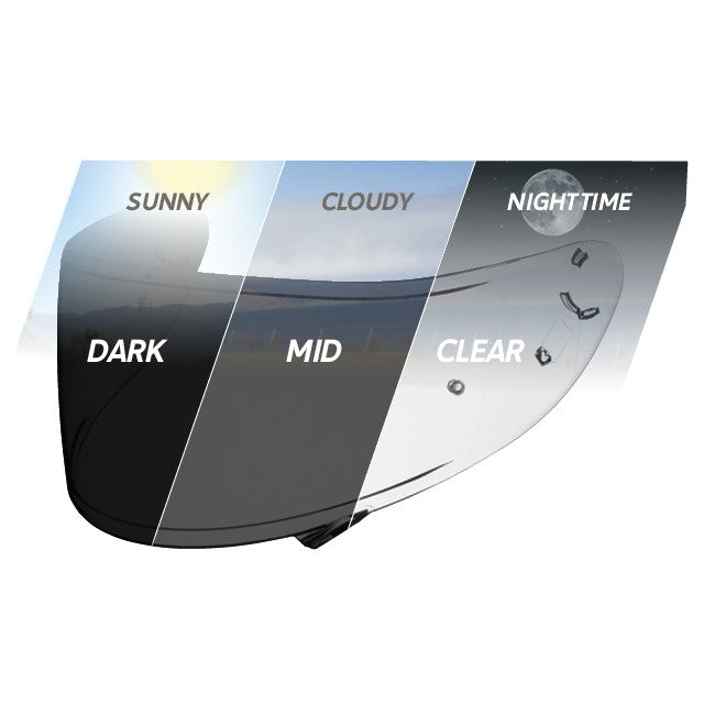 SHOEI CWR-1 TRANSITIONS PHOTOCHROMATIC PINLOCK SHIELD