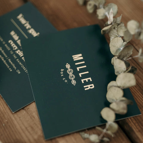 Notecard with logo | Miller Box Co.