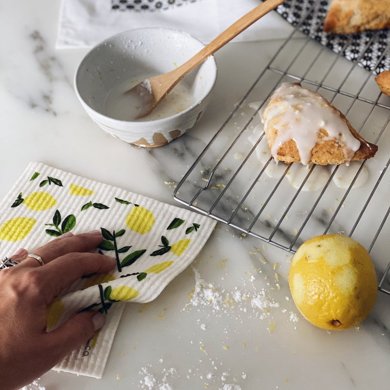 Citrus Lemon Sponge Cloth & Tea Towel | Miller Box Co.