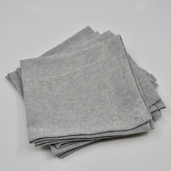 Steel | Linen Napkins (4) - MILLER box co.