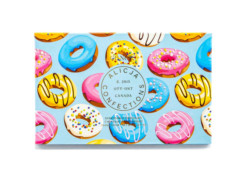 Go Nuts Donuts Milk Chocolate Bar | Miller Box Co.