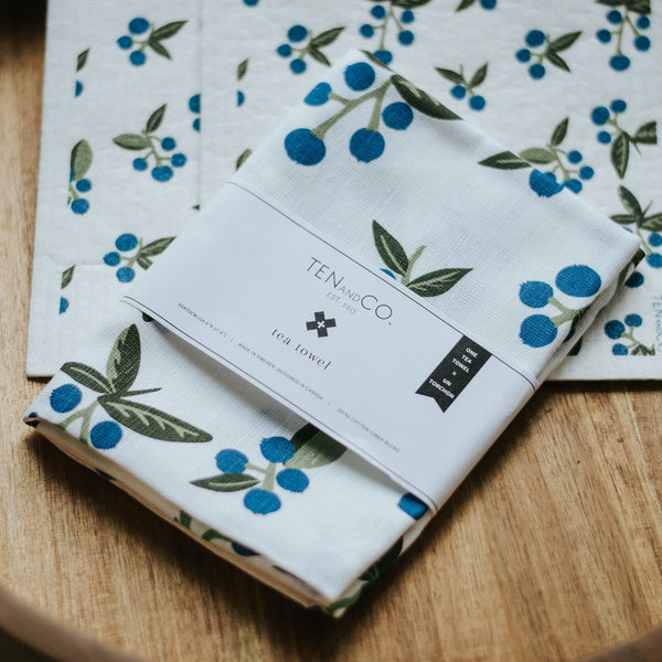 Wild Blueberry Tea Towel | Miller Box Co.