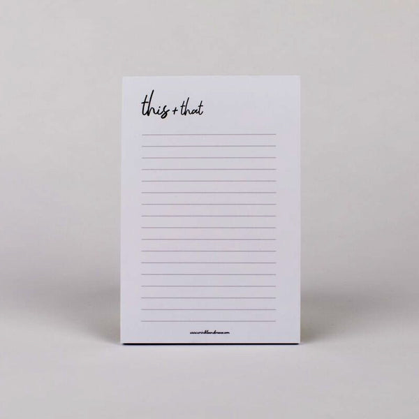 This & That Notepad | Miller Box Co.