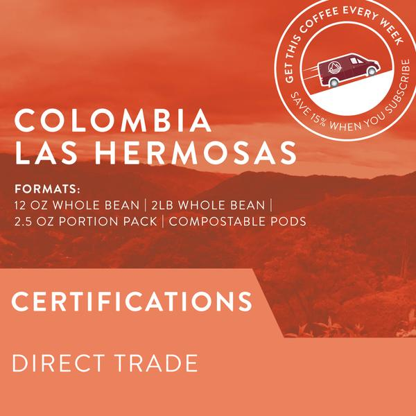 Colombia Las Hermosas Whole Coffee Beans | Miller Box Co.