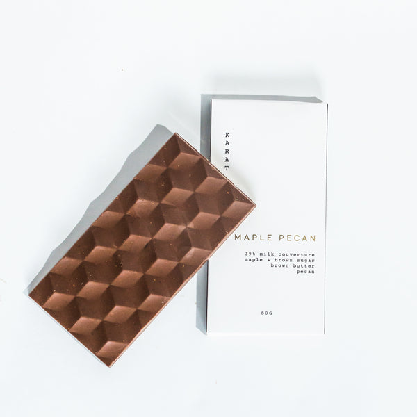 Maple Pecan Chocolate Bar | Miller Box Co.