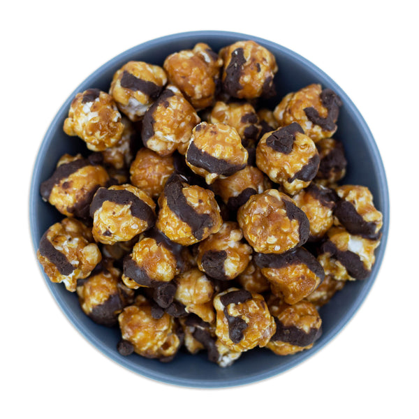 Peanut Butter Chocolate Caramel Popcorn | Miller Box Co.
