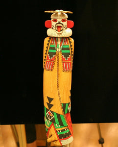 Hopi 12″ Kachina: White Bear