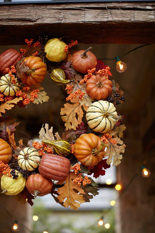 Biophilic Halloween Wreath - Image Credit, 1001 Garden