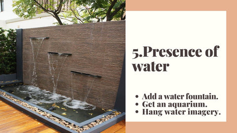 5. Presence of water