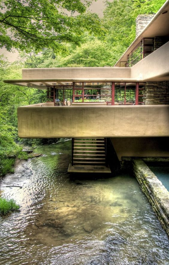 Frank Lloyd Wright's Fallingwater in Pennsylvania, photo by by kristoffer smith