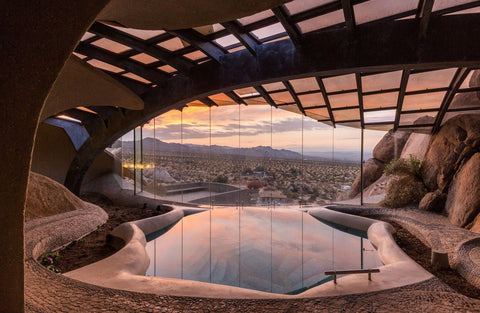 The house in Joshua Tree was designed in the 1980s by organic architect Kendrick Bangs Kellogg for artist Bev Doolittle and her husband Jay.