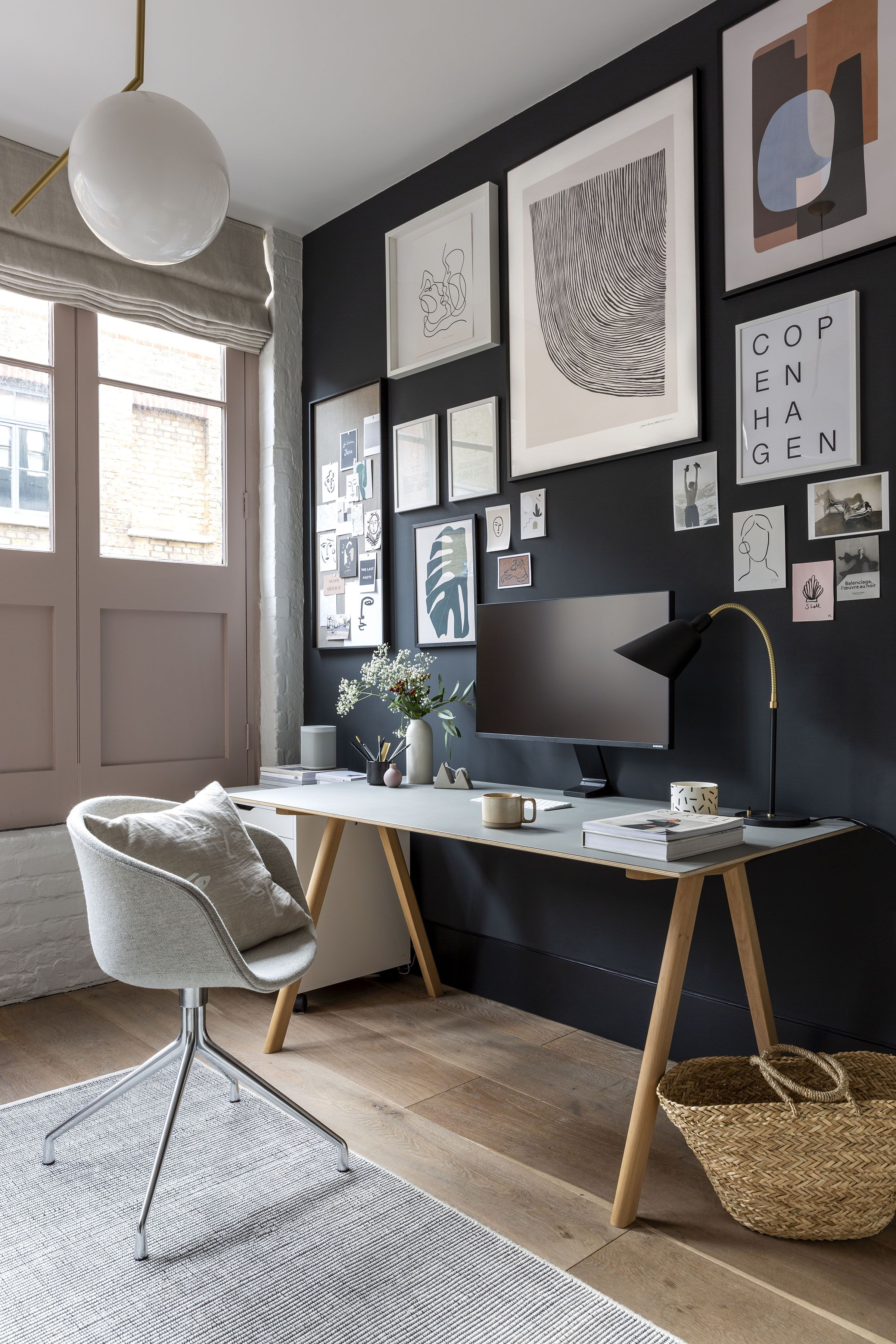 A cool, minimalist home office in a Shoreditch loft apartment, Image Credit - by cate st hill