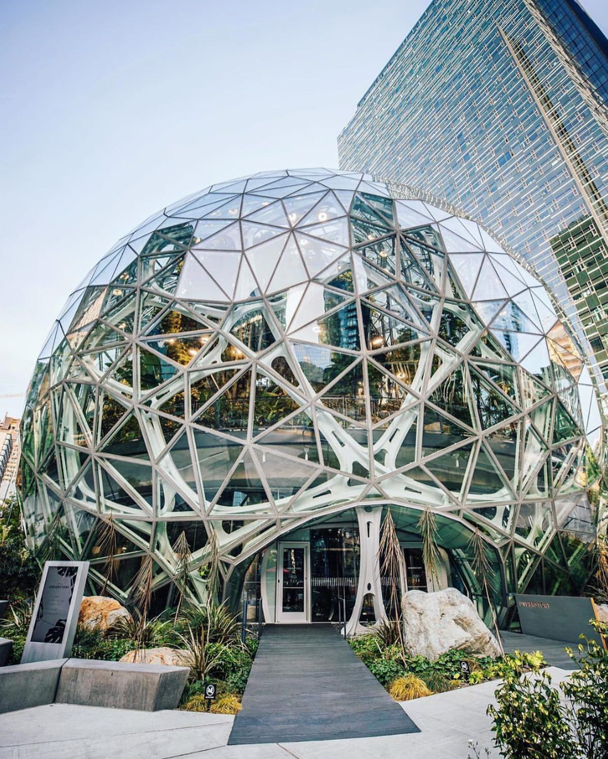 Amazon headquarters in Seattle Image Credit - r/ArchitecturePorn