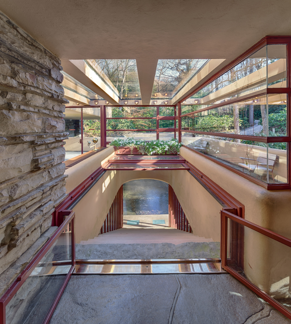 Fallingwater by Frank Lloyd Wright, Photograph by Andrew Pielage, courtesy of Western Pennsylvania Conservancy